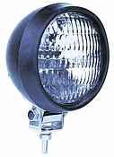 Utility Light Or Tractor Light, Clear, Black Rubber Housing