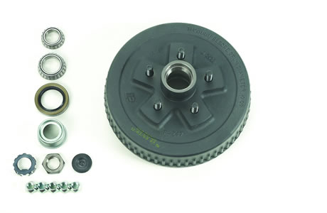 "4.5"" Bolt Circle, Hub & Drum Only, Drum Size 10"" X 2-1/4"""