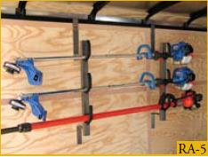 Trimmer Rack For Enclosed Trailer